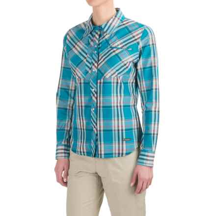 Simms Big Sky Shirt - UPF 30+, Long Sleeve (For Women) in Lagoon Plaid - Closeouts