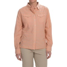 Simms Big Sky Shirt - UPF 30+, Long Sleeve (For Women) in Melon Plaid - Closeouts