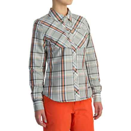 Simms Big Sky Shirt - UPF 30+, Long Sleeve (For Women) in Moonstone Plaid - Closeouts
