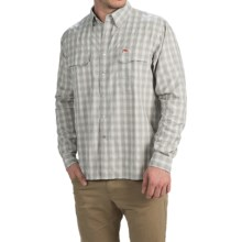 Simms Big Sky Shirt - UPF 50+, Long Sleeve (For Men) in Boulder Plaid - Closeouts