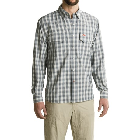 Simms Big Sky Shirt - UPF 50+, Long Sleeve (For Men) in Nightfall Plaid