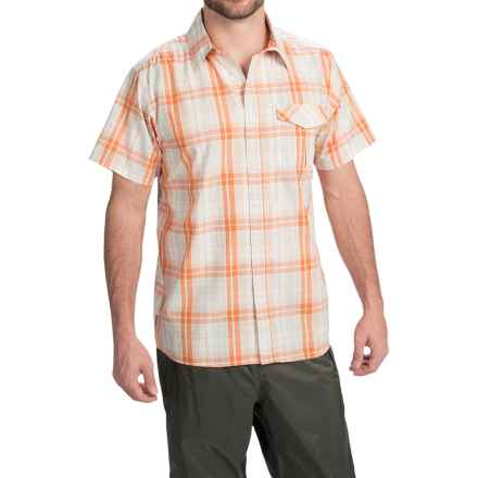 Simms Bimini Shirt - UPF 50+, Short Sleeve (For Men) in Clay Plaid - Closeouts