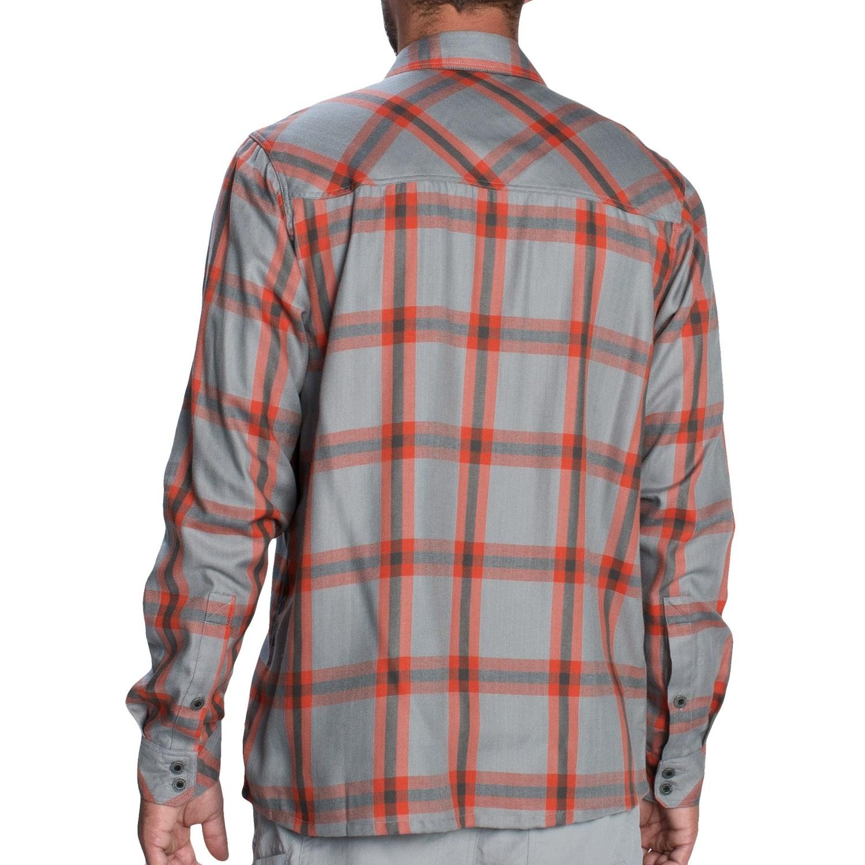Simms Black S Ford Flannel Shirt Upf 50 Long Sleeve
