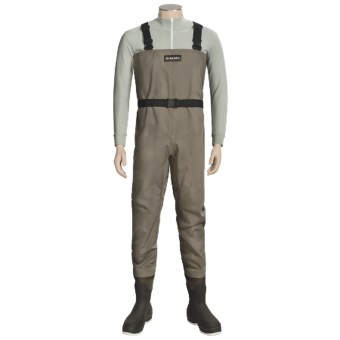 Simms Blackfoot Chest Waders - Muck Boot Wetlands Felt Sole Boots (For Men) in Brown