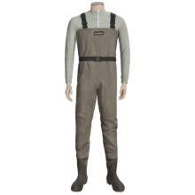 Simms Blackfoot Chest Waders - Muck Boot Wetlands Lugged Sole Boots (For Men) in Brown - Closeouts