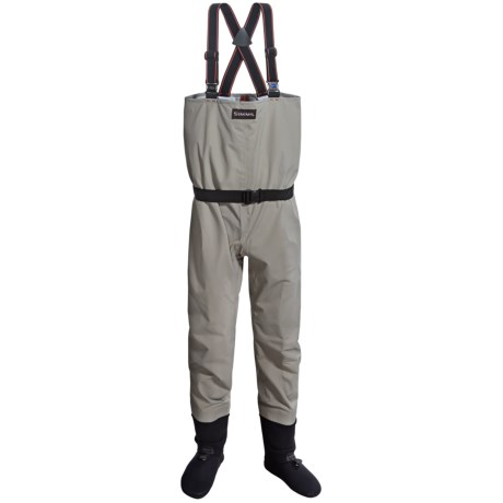 Simms Blackfoot Waders - Stockingfoot (For Men) in Mineral