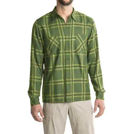 Simms Black's Ford Flannel Shirt - UPF 50+, Long Sleeve in Grove Plaid - Closeouts