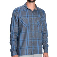 Simms Black's Ford Flannel Shirt - UPF 50+, Long Sleeve in Nightfall Plaid - Closeouts