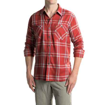 Simms Black's Ford Flannel Shirt - UPF 50+, Long Sleeve in Ruby Plaid - Closeouts
