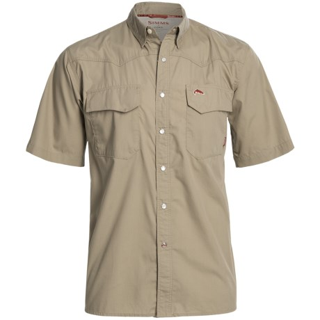 Simms Bozeman Shirt - UPF 30+, Short Sleeve (For Men) in Storm Blue