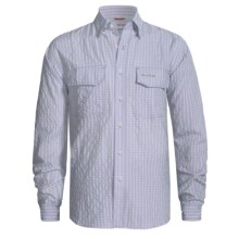 Simms Bugblocker Plaid COR3 Shirt - No Fly Zone Insect Repellent, UPF 30, Long Sleeve (For Men) in Smoke Blue - Closeouts