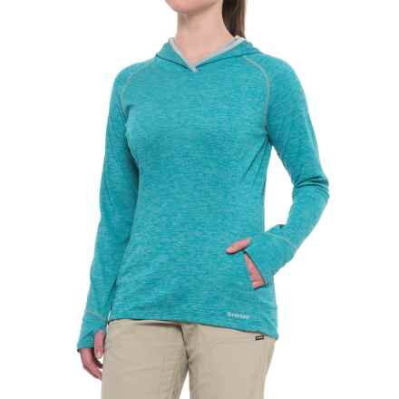 Simms BugStopper® Hoodie Shirt - UPF 50+, Long Sleeve (For Women) in Lagoon - Closeouts