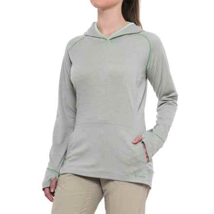 Simms BugStopper® Hoodie Shirt - UPF 50+, Long Sleeve (For Women) in Moonstone - Closeouts