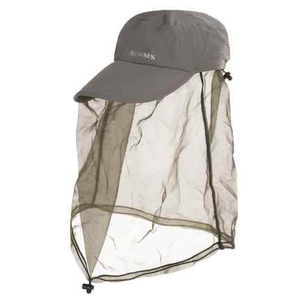 Simms Bugstopper® Net Cap - UPF 50+ (For Men and Women) in Gunmetal - Closeouts