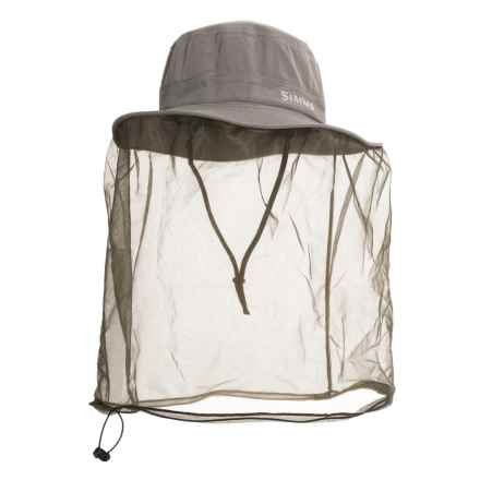 Simms Bugstopper® Net Sombrero Hat - UPF 50+ (For Men and Women) in Gunmetal - Closeouts