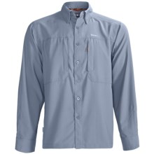 Simms BugStopper NFZ Shirt - UPF 50+, Long Sleeve (For Men) in Blue Fog - Closeouts