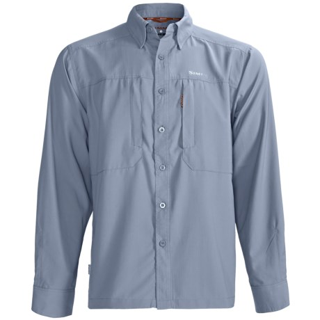 Simms BugStopper NFZ Shirt - UPF 50+, Long Sleeve (For Men) in Blue Fog