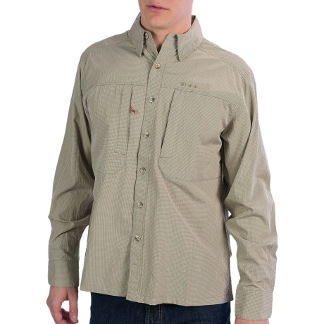 Simms BugStopper NFZ Shirt - UPF 50+, Long Sleeve (For Men) in Moss Plaid