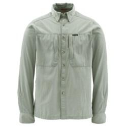 Simms BugStopper NFZ Shirt - UPF 50+, Long Sleeve (For Men) in Thyme Mini Plaid