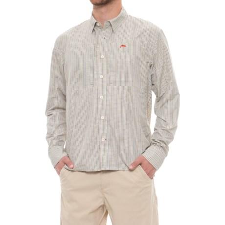 Simms BugStopper Plaid Shirt - UPF 50, Long Sleeve (For Men) in Dark Slate Plaid