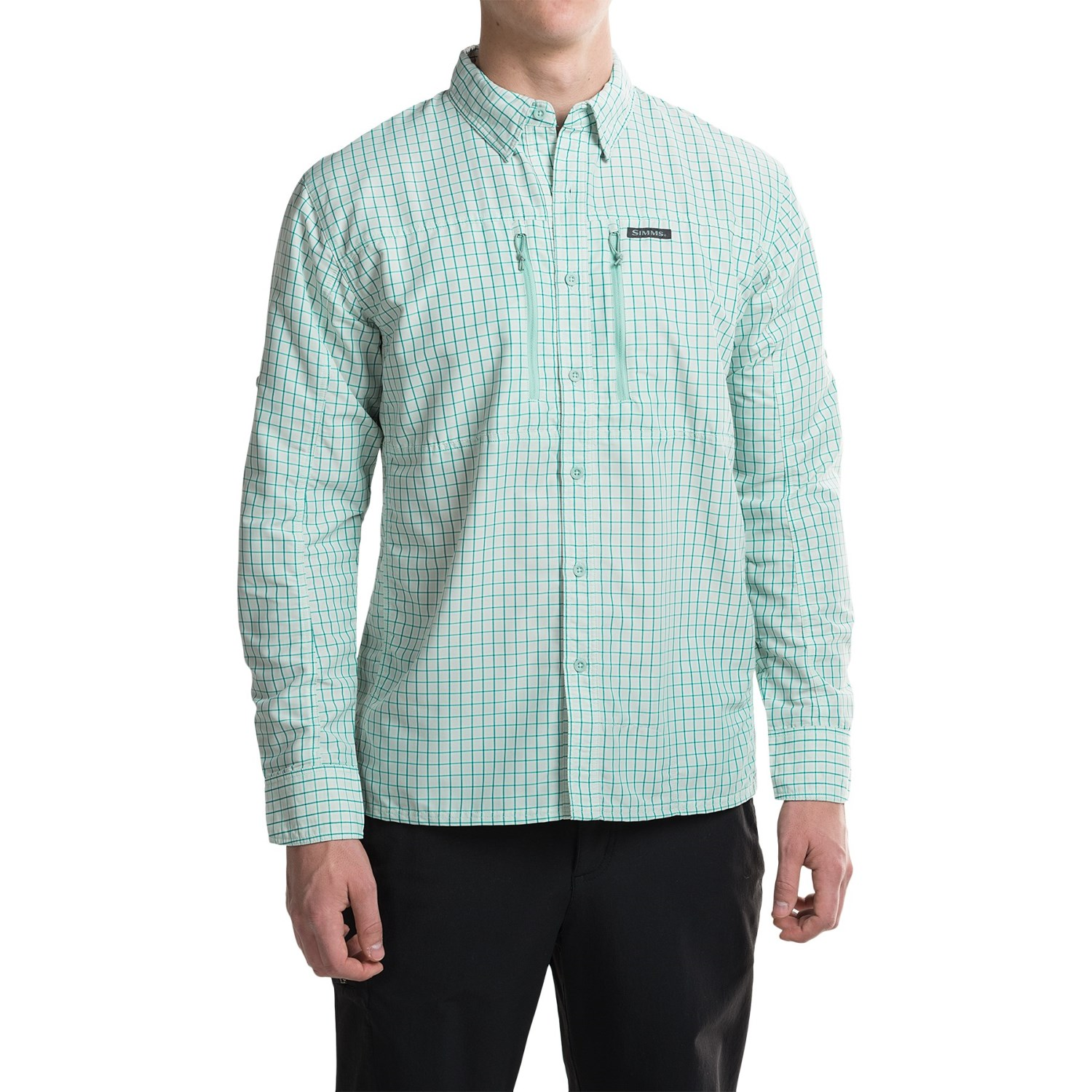 Simms bugstopper plaid shirt for men save 49 for Plaid shirt long sleeve