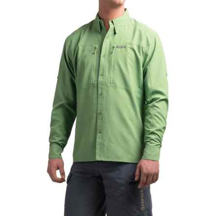 Simms BugStopper Solid Shirt - UPF 50+, Long Sleeve (For Men) in Mantis - Closeouts
