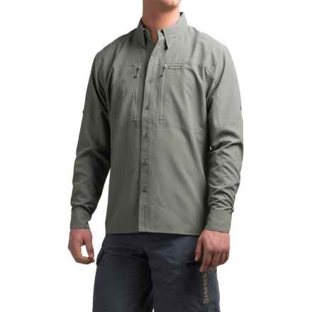 Simms BugStopper Solid Shirt - UPF 50+, Long Sleeve (For Men) in Smoke - Closeouts