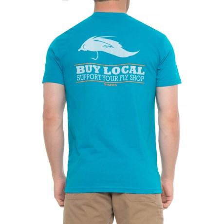Simms Buy Local Salt T-Shirt - Short Sleeve (For Men) in Capri