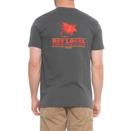 Simms Buy Local Trout T-Shirt - Short Sleeve (For Men) in Anvil