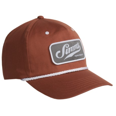 Simms Captains Cap - UPF 50+, Cotton Twill (For Men and Women) in Simms Orange