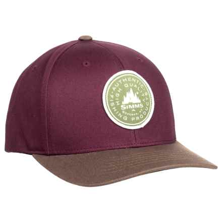 Simms Classic Baseball Cap - Cotton Twill (For Men and Women) in Malbec - Closeouts