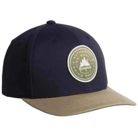 Simms Classic Baseball Cap - Cotton Twill (For Men and Women) in Wilderness Nightfall - Closeouts