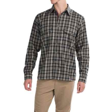 Simms Coldweather Button-Front Shirt - UPF 50+, Long Sleeve in Black Plaid - Closeouts