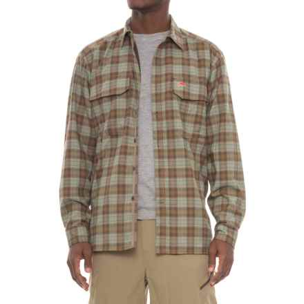 Simms Coldweather Button-Front Shirt - UPF 50+, Long Sleeve in Saddle Plaid - Closeouts