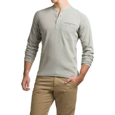 Simms Coldweather Henley Shirt - UPF 50+, Long Sleeve (For Men) in Boulder - Closeouts