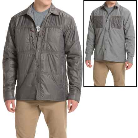 Simms Confluence Flannel Jacket - UPF 50+, Reversible (For Men) in Charcoal - Closeouts