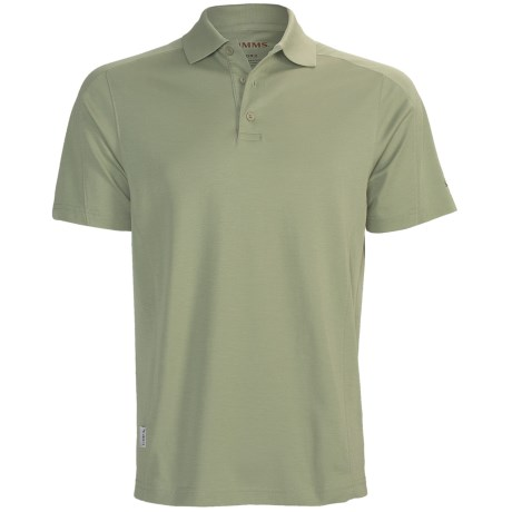 Simms Cor3 Polo Shirt - UPF 30+, Short Sleeve (For Men) in Orange