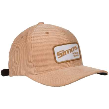 Simms Corduroy Classic Baseball Cap - UPF 50+ (For Men) in Acorn - Closeouts