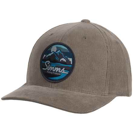 Simms Corduroy Classic Baseball Cap - UPF 50+ (For Men) in Mountains/Stream Charcoal - Closeouts