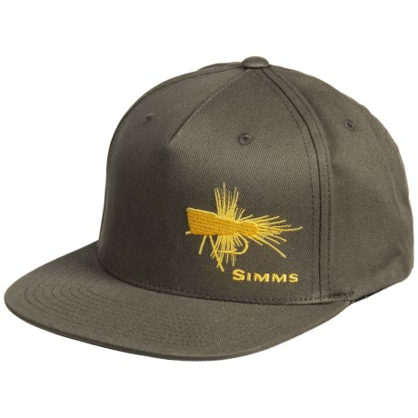 Simms Cotton Twill Snapback Baseball Cap - UPF 50+ (For Men) in Loden