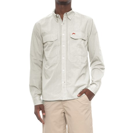Simms Deceiver Shirt - Long Sleeve (For Men and Big Men) in Ash