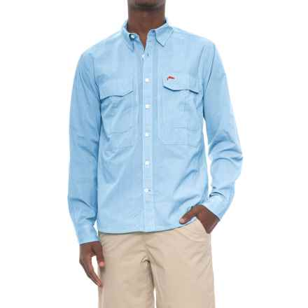 Simms Deceiver Shirt - Long Sleeve (For Men and Big Men) in Blue Harbor - Closeouts
