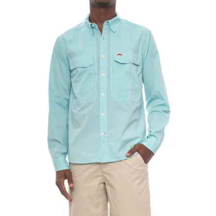 Simms Deceiver Shirt - Long Sleeve (For Men and Big Men) in Turquoise - Closeouts