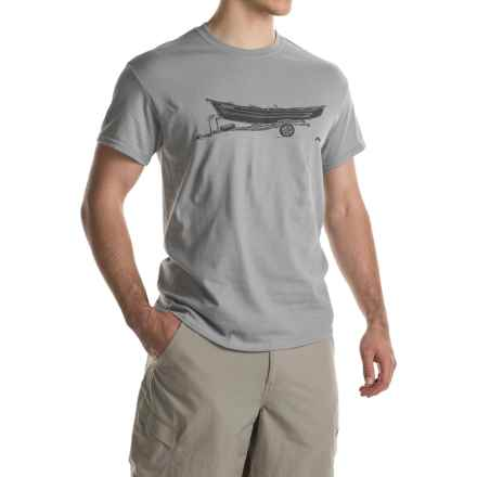 Simms Drift T-Shirt - Short Sleeve (For Men) in Granite - Closeouts