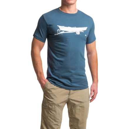 Simms Drift T-Shirt - Short Sleeve (For Men) in Navy/White - Closeouts
