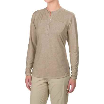 Simms Drifter Tech Henley Shirt - UPF 20+, Long Sleeve (For Women) in Linen - Closeouts