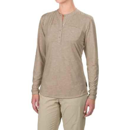Simms Drifter Tech Henley Shirt - UPF 20+, Long Sleeve (For Women) in Linen - Closeouts