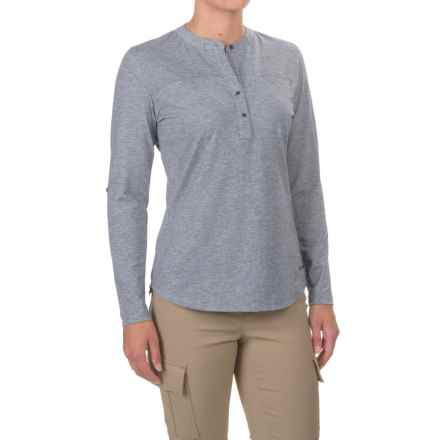 Simms Drifter Tech Henley Shirt - UPF 20+, Long Sleeve (For Women) in Oxford Blue - Closeouts