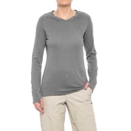 Simms Drifter Tech Shirt - V-Neck, Long Sleeve (For Women) in Boulder - Closeouts