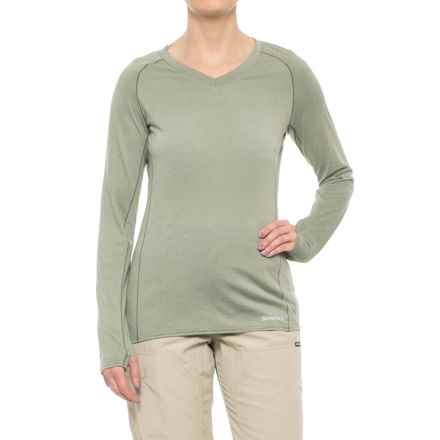 Simms Drifter Tech Shirt - V-Neck, Long Sleeve (For Women) in Thyme - Closeouts